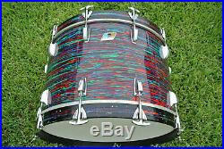 1 OWNER! 1969 LUDWIG USA 22 PSYCHEDELIC RED BASS DRUM for YOUR DRUM SET! #Z876