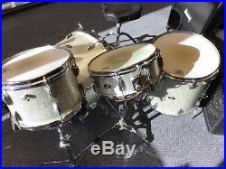 1950s or 1960s Rare Vintage Slingerland 4 piece drum set in Silver Sparkle