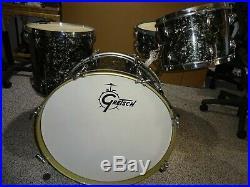 1953 Vintage Gretsch Broadkaster Round Badge Drum Set 3 Ply Matching Snare