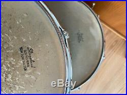 1965 Vintage Slingerland White Satin Flame 22,13,16 Collector Quality Drumset