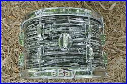1966 Ludwig CLASSIC 13 BLACK OYSTER PEARL FLOOR TOM for YOUR DRUM SET! #B969
