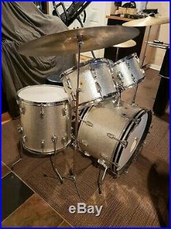 1967 Ludwig Hollywood Silver Sparkle Drum Set