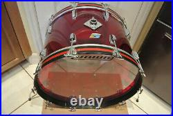 1970's LUDWIG 24 CLASSIC RED VISTALITE BASS DRUM for YOUR DRUM SET! LOT #F702
