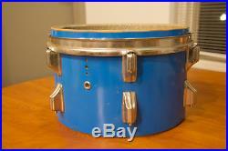 1972 Rogers Fullerton Era Pacific Blue 12/13/16/22 4pc Drum Set