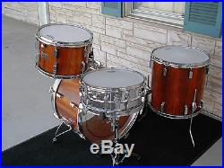1973 1975 Sonor Rosewood Champion Drum Set Vg Ec Rare