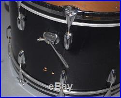1974 Slingerland Niles, Black 4pc Drum Set, 24x14, 18x16, 14x10, 13x9