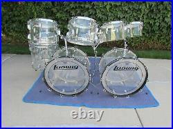 1976 Vintage Ludwig Vistalite Nine Piece Drum Set