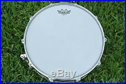 1990 LUDWIG SMOOTH BRONZE LB-552 6-1/2X14 SNARE DRUM with P-85 for YOUR SET! #Z815