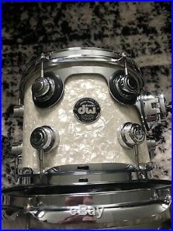 2000 DW Collectors White Marine Pearl Drum Set WMP 10 12 14 16 18 22 USA