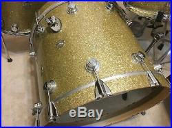 2008 DW Collectors 22-13-16 Gold Glass Drum Set- Near Mint Condition