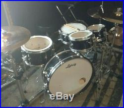 4 pc. Ludwig travel/Jazz kit 22x9 bass drum! 22,8,10,13 nesting drum set with Remo