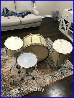 40s Ludwig and Ludwig drum set from 47 in White Marine Pearl