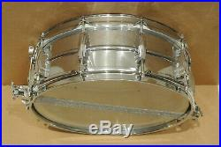 60's LUDWIG 14 CHROME / BRASS SUPER SENSITIVE SNARE DRUM for YOUR DRUM SET! #K9