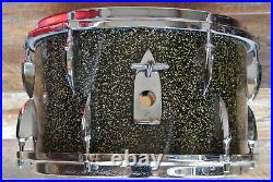 60's SONOR 13 BLACK GALAXY SPARKLE TEARDROP TOM for YOUR METRIC DRUM SET! E38