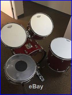 60 S Vintage Slingerland Red Sparkle 5 Pc Drum Set Used
