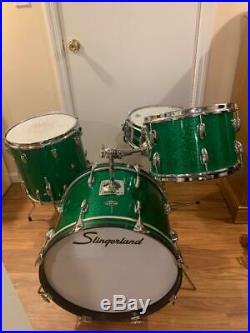 70's Slingerland Sparkling Green Pearl Set -excellent