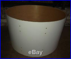 70s LUDWIG 24 CLASSIC 6-PLY WHITE CORTEX BASS DRUM SHELL for DRUM SET