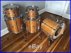 80s Yamaha Recording Custom Drum Set Real Wood RA 10 12 14 16 20 9000 Birch
