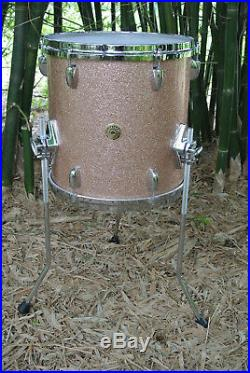 ADD this RARE GRETSCH 13 CHAMPAGNE SPARKLE FLOOR TOM 2 YOUR DRUM SET TODAY B789