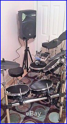 alesis dm10x mesh electronic digital drum kit set bundle plus no reserve used drum sets. Black Bedroom Furniture Sets. Home Design Ideas