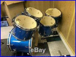 BIG ROCK SET TAMBURO T5 in blue sparkle 22, 16, 14, 13, 12