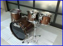Brady 4 Piece Drumset Rare Black Silky Oak Finish