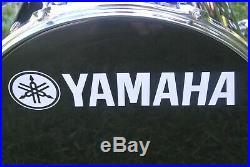 CLEAN 1 OWNER DRUM SET! YAMAHA MANU KATCHE 16/10/13 + 12 SNARE in BLACK! #E643