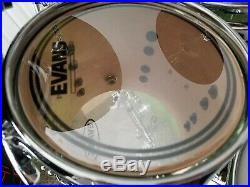 CUSTOM Olive Sparkle Lacquer Metal flake Maple Drumset Rare Color Keller Shells