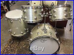 Camco Oaklawn 4pc Silver Sparkle Drumset 1967 Used Drum Sets