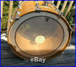 Camco drumset, L. A. Badge, 70's Natural Maple