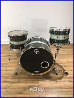 Cardwell & Cardwell Custom Drum Set 3 Piece Glass Glitter C&C USA Made CC Drums