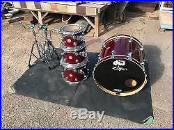 DW COLLECTORS 4pc DRUM SET KIT RUBY RED GLASS