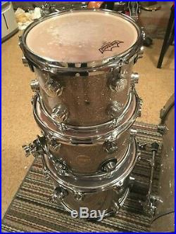 DW Collector's Drum Workshop Broken Glass 4 piece drum set! 10, 12, 14, 23