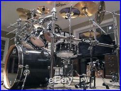 DW Collector's Series 8 piece drum set Ebony Satin finish/chrome