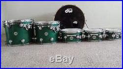 DW Collectors Series 2010 6 pc teal satin oil custom drumset