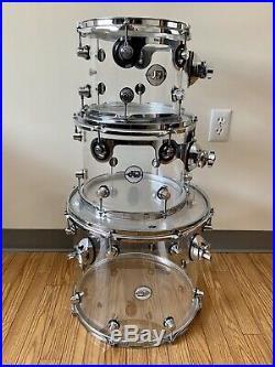 DW DDAC2215CL Acrylic 5 Pieces Drum Set Clear