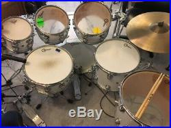 DW Solid White Lacquer 7 Piece Collectors Series Drum Set