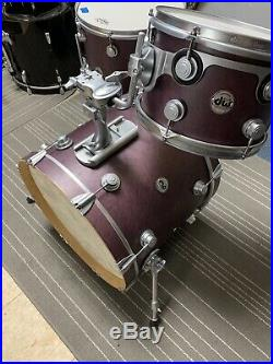 Dw Collector Drum Set 12 16 22 Used Excellent Unique Finish Maple VLT usa