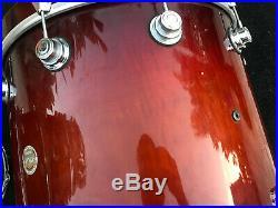 Dw Collectors Exotic 5pc Drum Set Tobacco Burst Over Curly Maple