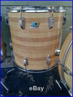 Early To MID 70's Ludwig John Bonham Butcher Block Classic 3-ply Drum Set