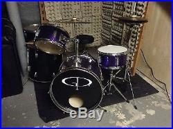 GP 3-Piece Junior Children's/Kids Starter Drum Set with Hi Hat Stand (plus 2 toms)