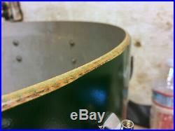 GRETSCH 60s Vtg Round Badge Drum Set 12/16/22 w Progressive Jazz Snare 4x14 Kit