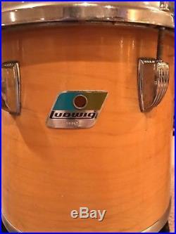 Gorgeous 12 piece Ludwig classic maple drum set with 6 Zildjian Cymbols & High hat