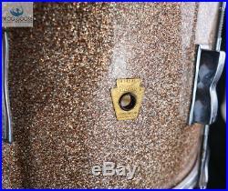 Gorgeous & Original Vintage 1967 Ludwig Club Date Drum Set Champagne Sparkle