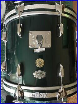 Gretsch 125th Anniversary Cadillac Green Round Badge Bop 18/12/14/14 Drum Set #1