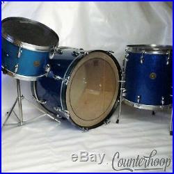 Gretsch 20,12,14Virgin Bass/Tom/Floor Drum Set/Kit 3Ply 50s Broadkaster Blue Sp