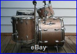Gretsch Round Badge Vintage Progressive Jazz Set/Kit. 20/12/14/14 & Hardware 60s