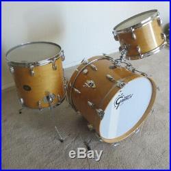 Gretsch Stop Sign Badge Drum Set kit progressive jazz 20 12 14 early 70's