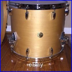 Gretsch USA Custom 3pc Drum Set Satin Millenium Maple 22,13,16
