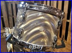 Gretsch Vintage Round Badge Drum Set RARE Moon Glow Flame Finish